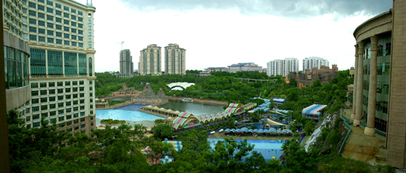Panoramic view of the area