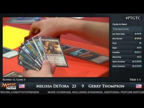 Pro Tour Gatecrash Round 12: Melissa DeTora vs Gerry Thompson