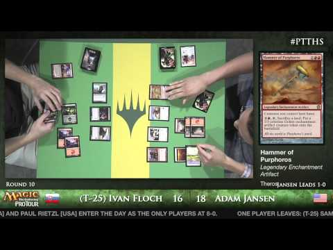 Pro Tour Theros - Theros Draft Round 10 - (T-25) Ivan Floch vs. Adam Jansen