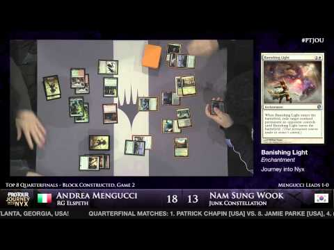 Pro Tour Journey into Nyx - Quarterfinal - Andrea Mengucci vs. Nam Sung Wook