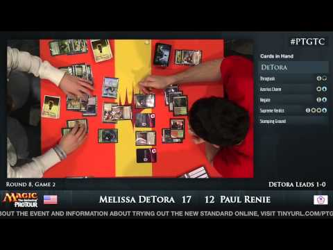 Pro Tour Gatecrash Round 8: Melissa DeTora vs. Paul Renie (Standard)