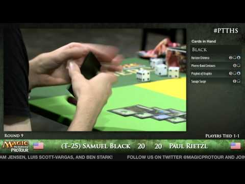 Pro Tour Theros - Theros Draft Round 9 - (T-25) Samuel Black vs. Paul Rietzl