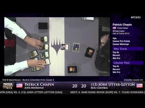 Pro Tour Journey into Nyx - Semifinal - Patrick Chapin vs. Joshua Utter-Leyton