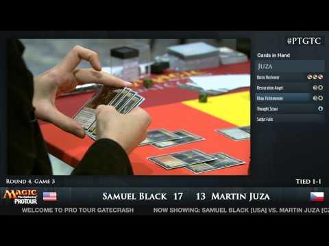 Pro Tour Gatecrash Round 4: Sam Black vs. Martin Juza