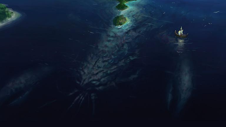 Arixmethes, die schlummernde Insel