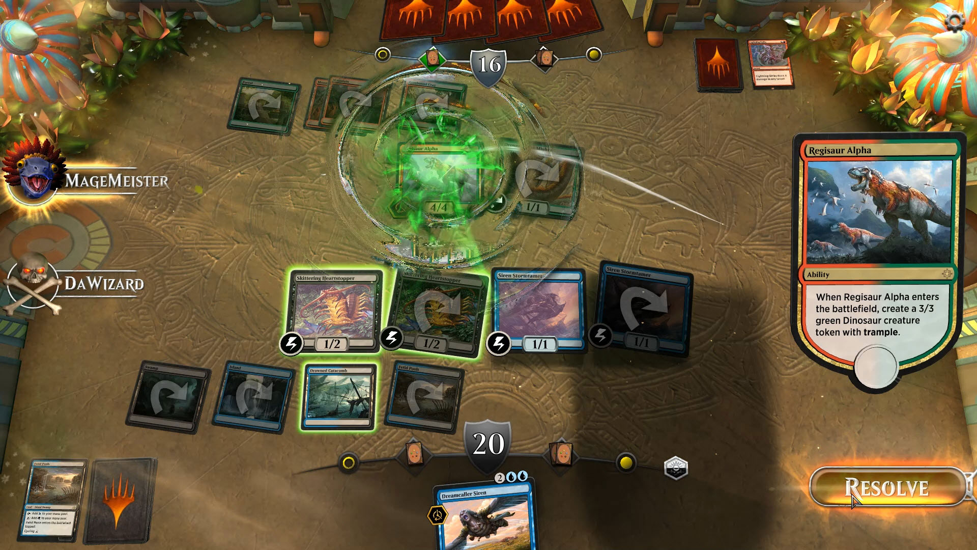 Regisaur Alpha Magic Gathering Arena